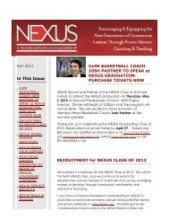 PURCHASE TICKETS NOW RECRUITMENT for ... - nexus leaders