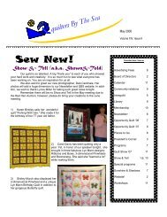 Sew New! - Quilters by the Sea