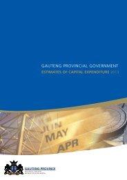 Estimate of Capital Expenditure 2013 - Gauteng Provincial Treasury