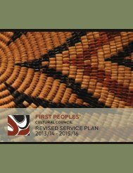 Revised 2013/14 - 2015/16 Service Plan - First Peoples