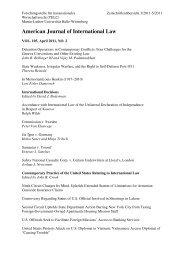 American Journal of International Law - Forschungsstelle für ...