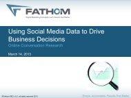 Using Social Media Data to Drive Business Decisions - Fathom