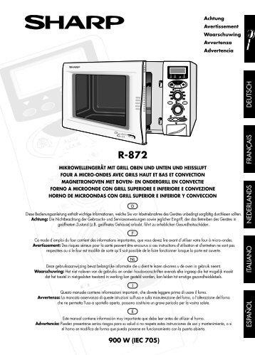 R-872 Operation-Manual NL - Sharp