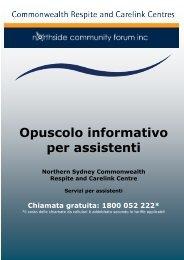 Opuscolo informativo per assistenti - Northside Community Forum Inc.