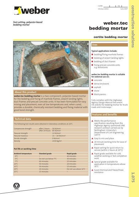 Weber Tec Bedding Mortar Resapol, How Much Bedding Mortar Do I Need