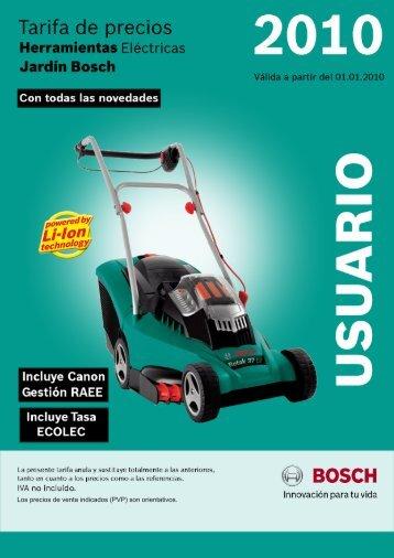 Catalogo herramientas electricas Bosch jardineria