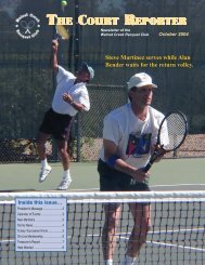 October Court Reporter - Walnut Creek Racquet Club