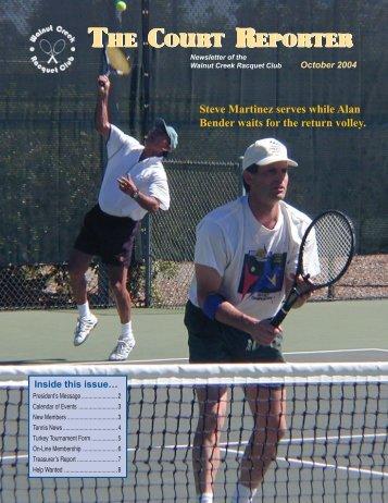 October Court Reporter - Walnut Creek Racquet Club