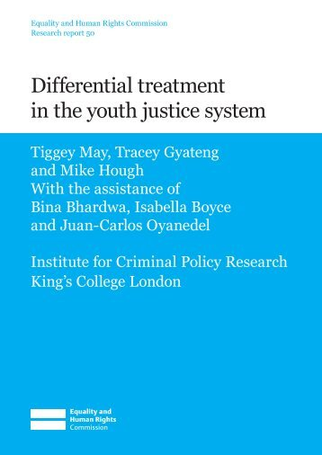 Differential treatment in the youth justice system - Equality and ...
