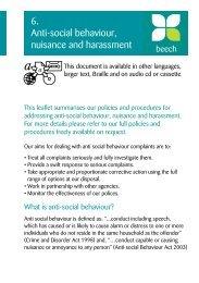 6. Anti-social behaviour, nuisance and harassment - Adactus ...