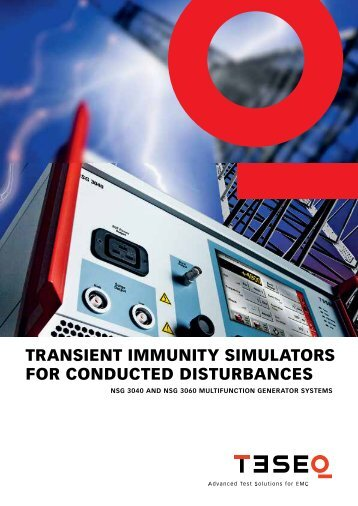 TransienT immuniTy simulaTors For ConDuCTeD DisTurBanCes