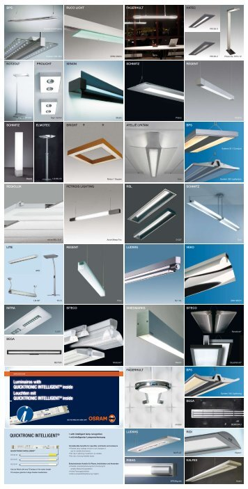 Luminaires with QUICKTRONIC INTELLIGENT® inside ... - Osram