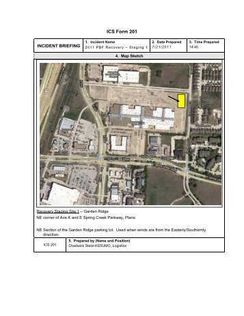 Incident Briefing Ics Form 201