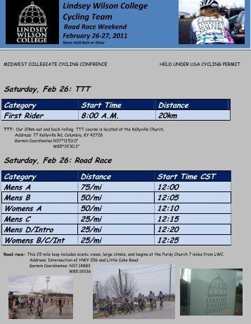 Race Flyer - Lindsey Wilson College Athletics