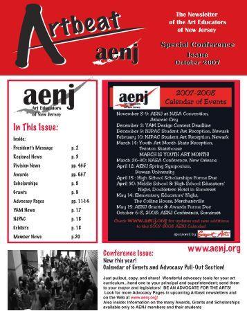 Fall 2007 - Art Educators of New Jersey