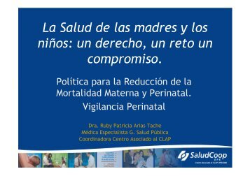La Salud de las madres y los niños: un derecho, un reto un ...