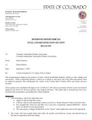 division of motor vehicles title and registration ... - Cadaonline.org