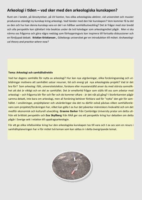 Information om program, boende, anmälan etc - Institutionen för ...