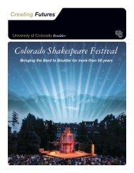 Colorado Shakespeare Festival - University of Colorado Foundation