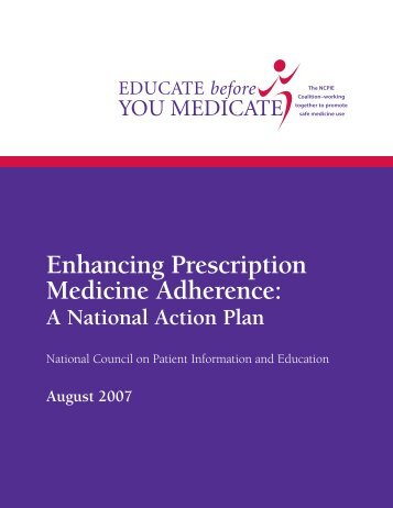 Enhancing Prescription Medicine Adherence: - National Council on ...