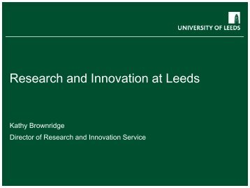 Research and Innovation at Leeds - Staff and Departmental ...
