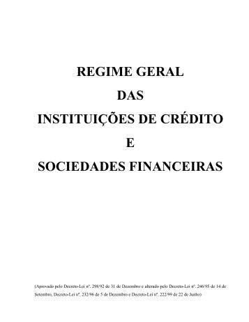 Decreto-Lei nº 298/92 de 31 de Dezembro alterado pelos Decreto ...