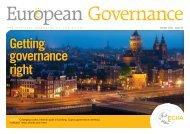 Getting governance right - SVIR