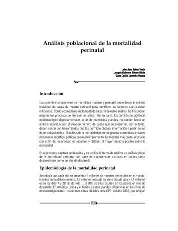 Análisis poblacional de la mortalidad perinatal - Inicio - Universidad ...