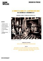 dossier de presse Le tamis et Le sabLe 3/3: La ... - Maison Populaire