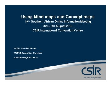 Using Mind maps and Concept maps - SAOUG