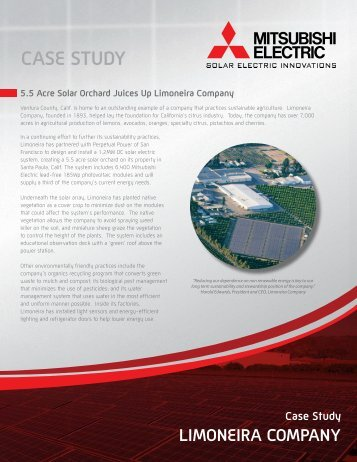 Limoneira Company Case Study - Mitsubishi Electric