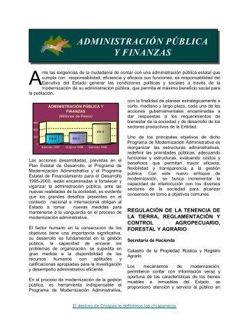 ADMINISTRACIÓN PÚBLICA Y FINANZAS - Secretaria de Hacienda
