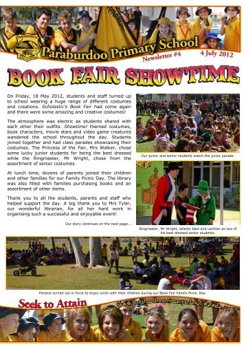 Newsletter #4 - 4 July 2012 - Paraburdoo Primary School