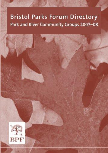 Parks Forum Directory 07:Layout 1 - Bristol Parks Forum