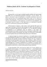 Palabras finales del Sr. Cardenal Arzobispado de Toledo