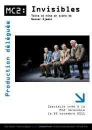 Invisibles - Théâtre de la Maison du Peuple