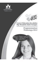 Programmation Printemps 2012