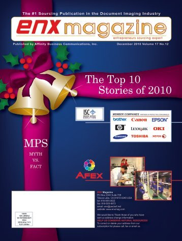 December 2010 Issue PDF - ENX Magazine