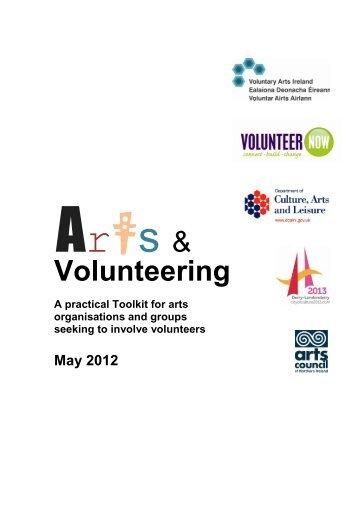 Arts Volunteering Toolkit - Volunteer Now
