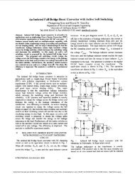An isolated full bridge boost converter with active soft switching ...