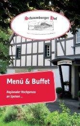 Menü & Buffet - Schaumburger Hof