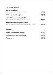 Speisekarte anzeigen - Sächsischen Schweiz, Elbsandsteingebirge