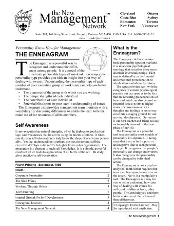The Enneagram – Personality Know-How for Management
