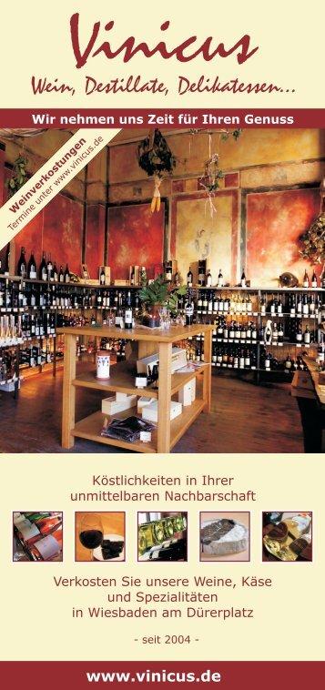 Vinicus - Wein, Destillate, Delikatessen...