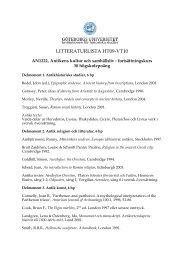 LITTERATURLISTA HT09-VT10 - Institutionen för historiska studier