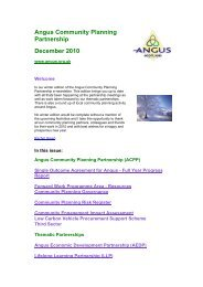December 2010 - issue 2 (100 KB PDF) - Angus Community Planning