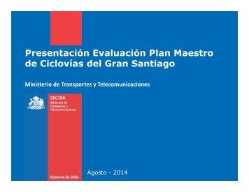 Taller GORE Municipios Plan Maestro ciclovias