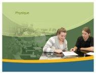 Programme de Physique au Secondaire - Ministère de l'Éducation ...