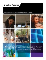The Center for Women's Health Research - University of Colorado ...