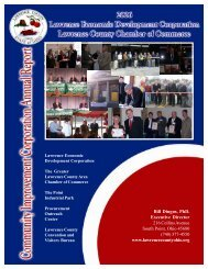 Annual Report, 2006 - Lawrence County Chamber of Commerce